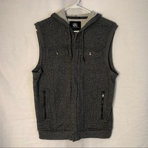 Rock Republic Small Vest Gray Hooded 987